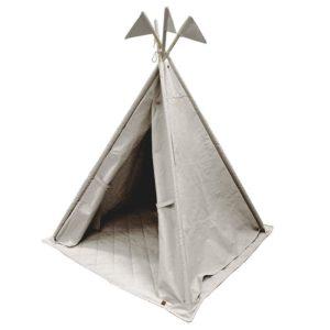 """TIPI Canvas mit Flaggen und Boden   in """"smoky-grey"""" von Overseas NL"""