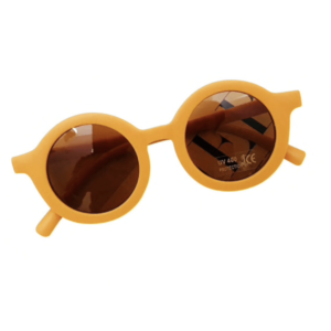 """Retro-Sunglasses"" for small Kids    in soft-mustard"