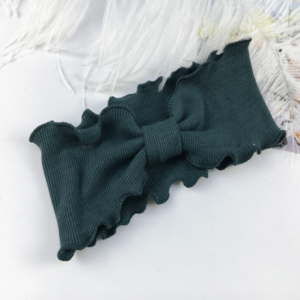 """""""Ripp-Haarband"""" für kleine Mädchen …super soft in pinie"""