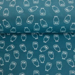 """Jersey  """"mini Michfläschchen""""  in blau"""