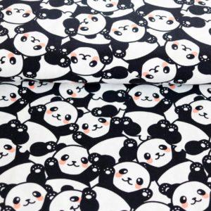 """Jersey  """"Panda durcheinander""""  in weiß/schwarz"""