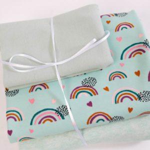 "Stoff-Paket ""Rainbow""   in mint"