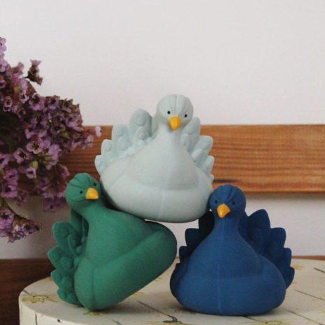 Natruba peacock trio