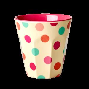 """Melamin Becher  Print """"Dots pink""""     von *rice"""