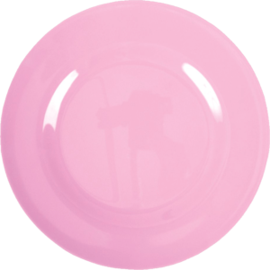 """Melamin Frühstücksteller  """"bubblegum rosa""""     von *rice"""