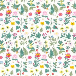 """Jersey Vintage Botanical """"bunte Blumenwiese""""  in  off white/bunt von Swafing"""