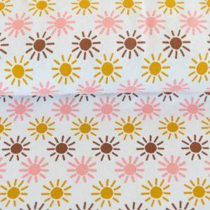 "Jersey ""retro Sun"" in off-white/rose/mustard"