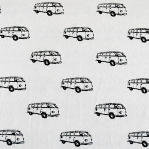 """Jersey """"retro Bus"""" in off-white/schwarz"""