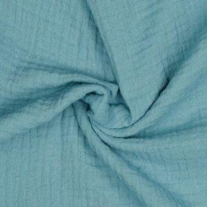 """Musselin / Double Gauze """"teal-blue"""""""