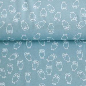 """Jersey  """"mini Milch-Fläschchen""""  in soft-blue"""
