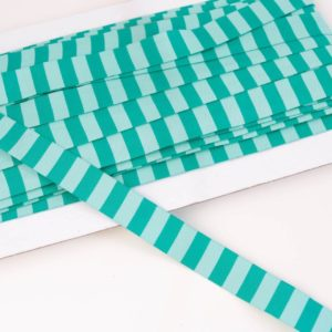 """Webband/ Flachkordel """"Blockstreifen"""" 15mm breit in seagreen/mint"""