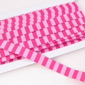 """Webband/ Flachkordel """"Blockstreifen"""" 15mm breit in pink/rosa"""