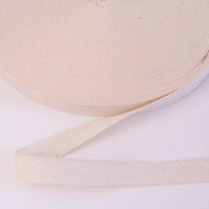 Baumwoll Köperband/ Webband/ Flachkordel 15mm breit in ecru