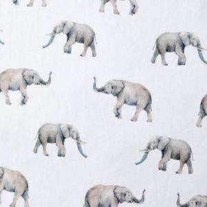 """Jersey  """"lovely Elephants""""  in weiß/grau"""