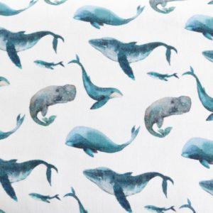 """Jersey  """"lovely Elephants""""  in weiß/blau"""