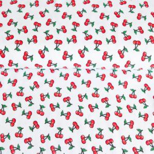 """Angebot! Jersey """"Little Cherrys""""  in weiß/bunt"""