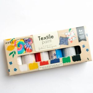 Set Stoffmalfarbe Textilfarbe 6x 50ml von AVEC