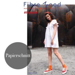 """Rosalie-Kleid"" Papierschnittmuster von FIBRE MOOD"