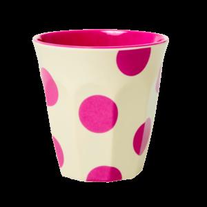 """Melamin Becher  Print """"DOTS""""  vanilla/pink    von *rice"""