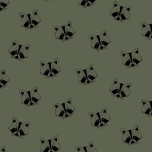 """Soft-Sweat """"RACOON""""  in forest-green  GOTS"""