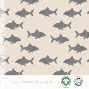 """Jersey """"SHARKIE – CREME""""  von Elvelyckan Design"""