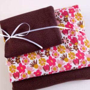 """Stoff-Paket Jersey+Sweat  """"Blomma""""  chocolate/berry"""