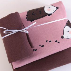 "Stoff-Paket   ""Hedgehock""   dusty rose/chocolate by Elvelyckan Design"