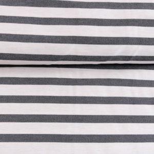"""Angebot! Webstoff  """"Bengaline-Stripes MAXI""""mit Stretch  in ecru/schwarz"""
