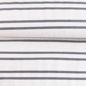 """Angebot! Webstoff  """"Bengaline-Stripes MINI""""mit Stretch  in ecru/schwarz"""
