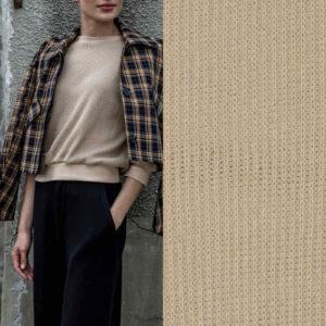 """Fibre Mood"" Stick-Stoff/ Heavy Knit in soft-sand"
