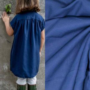 "SALE ""Fibre Mood"" woven Lyocell sandwash in Estate-Blue"