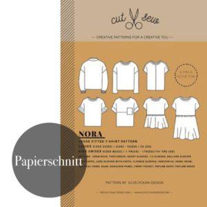 """""""NORA – LOOSE FITTED SHIRT""""  Mädchen und Damen  Papierschnittmuster von cut & sew by Elvelyckan Design Patterns (Kopie)"""