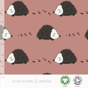 """Jersey """"HEDGEHOG – BLUSH PINK""""  von Elvelyckan Design"""