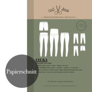 """""""LYCKA"""" Leggings Kinder und Damen  Papierschnittmuster von cut & sew by Elvelyckan Design Patterns"""