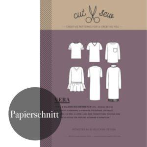 """VERA – TOP & DRESS""  Damen  Papierschnittmuster von cut & sew by Elvelyckan Design Patterns"